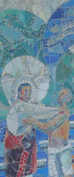 Mosaik-Ausschnitt: Jesus und Petrus