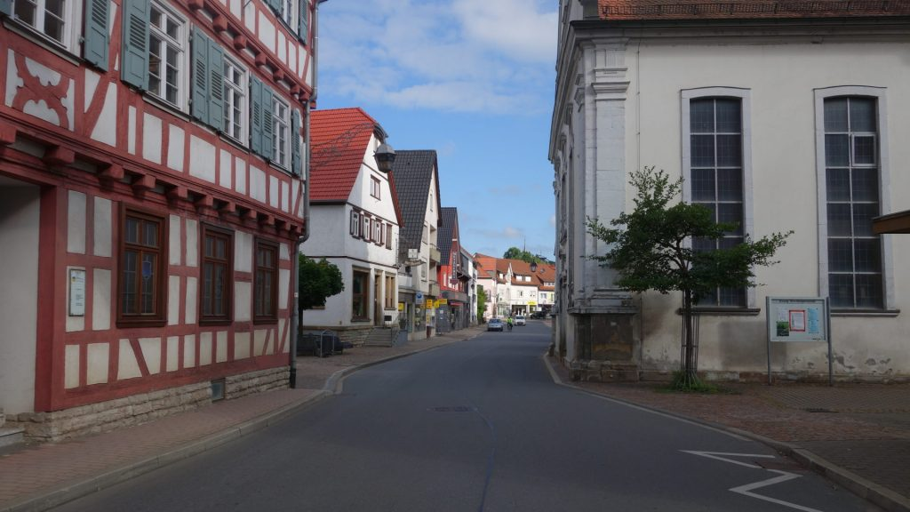 Engstelle in Adelsheim